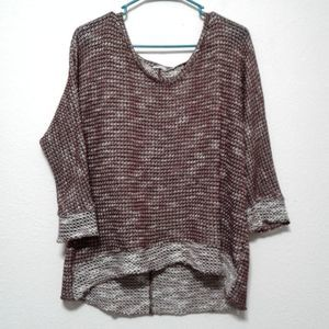 Kut from the Kloth maroon woven pullover sweater